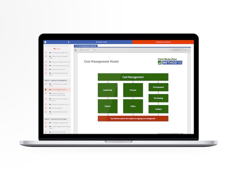 The Method Academy on laptop